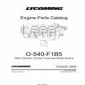 Lycoming O-540-F1B5 Wide Cylinder Flange Crankcase Model Engine Parts Catalog Part # PC-515-2 v2009 $19.95