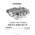 Lycoming Parts Catalog AEIO-580-B1A Part # PC-701-2 $19.95