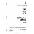 Cessna Model 177 Series  (1968 thru 1978) Illustrated Parts Catalog P695-12 $19.95