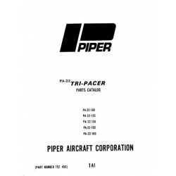 Piper Tri-Pacer Parts Catalog PA-22-108/125/135/150/160 $13.95 Part # 752-450