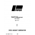 Piper Twin Comanche Parts Catalog PA-30 / PA-39 $13.95 Part # 753-646