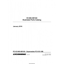 Lycoming IO-540-AB1A5 Illustrated Parts Catalog PC-IO-540-AB1A5 $19.95