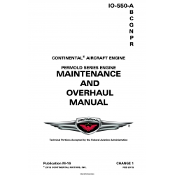 Continental IO-550 Permold Series Engine Maintenance and Overhaul Manual M-16 $29.95