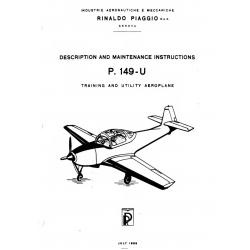 Piaggio P.149-U Description and Maintenance Instructions $19.95