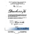 Beechcraft Duchess 76 Pilot's Operating Handbook and FAA Approved Airplane Flight Manual PIN 105-590000-5 / PIN 105-59000-5A7 $29.95