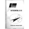 Piper Autocontrol III B Operating Instructions 761-600