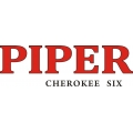 "Piper Cherokee Six Aircraft Decal/Sticker 3"" high by 10"" wide!"