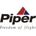 """Piper Full Color """"Freedom of flight"""" Aircraft Decal/Stickers! New! 6"""" high by 9 1/2"""" wide!"""