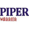 """Piper Warrior Aircraft  Decal/Sticker 4.67"""" high by 10"""" wide! $12.95"""