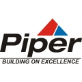Piper Building On Excellence Aircraft Logo,Decal/Sticker 5''h x 9 1/2''w!