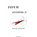 Piper Autocontrol III Operating Instructions 753-724 $13.95