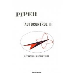 Piper Autocontrol III Operating Instructions 753-724