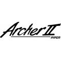 "Piper Archer II Decal-Sticker 2 3/4"" high by 10"" wide!"