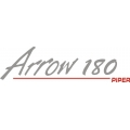 "Piper Arrow 180 Decal/Sticker 2.75"" high by 10"" wide!"