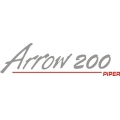 "Piper Arrow 200 Decal/Sticker 2.75"" high by 10"" wide!"