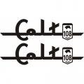 Piper 108 Colt Aircraft Decal,Sticker 2 1/4''high x 6 1/2''wide!