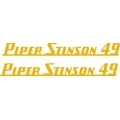 Piper Stinson 49 Aircraft Decal/Sticker 2''h x 19''w!