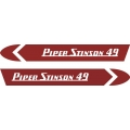 Piper Stinson 49 Aircraft Decal/Sticker  4''h x 29''w!