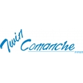 """Piper Twin Comanche Decal/Sticker 3.5"""" high by 12"""" wide! $9.95"""