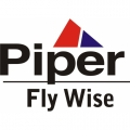 Piper Fly Wise Aircraft Decal,Sticker 5 3/4''high x 9 1/2''wide!