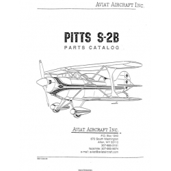 Pitts S-2B Parts Catalog $14.95