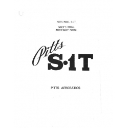 Pitts S.1T Owner's & Maintenance Manual $2.95
