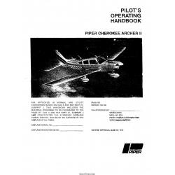 Piper Cherokee Archer II PA-28-181 Pilot's Operating Handbook $13.95