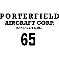 "Porterfield Decal/Vinyl Sticker! 11"" wide by 6"" high"