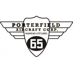 Porterfield 65 Aircraft Logo,Decals!