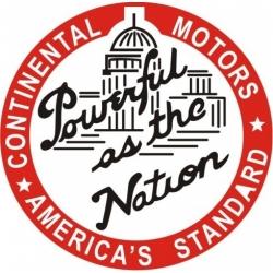 Continental Motors Aircraft Decal Sticker 6''round diameter!