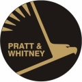 Pratt & Whitney Aircraft Decal,Sticker 2''high x 2''wide!