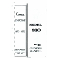 Cessna Model 310 Owner's Manual (1970-1972) D922-13 $13.95