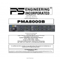 PS Engineering PMA8000B Audio Selector Panel and Intercom System Installation and Operator's Manual 2008 $9.95