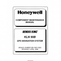 Bendix King KLN 90B GPS Navigation System Component Maintenance Manual 006-15521-0003 $29.95