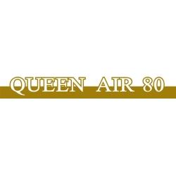 Beechcraft Queen Air 80 Aircraft Decal,Sticker!