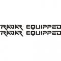 Radar Equipped Aircraft Placards,Decals!,