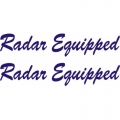 Radar Equipped Aircraft Placards,Decals!