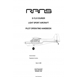 Rans S-7LS Courier Light Sport Aircraft Pilot Operating Handbook $9.95