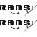 Rans S14 Airaile Aircraft Logo,Decals!