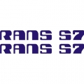 Rans S7 Aircraft Logo,Decals!