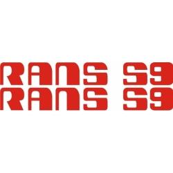 Rans S9 Aircraft Logo,Decals!
