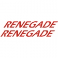 Renegade Aircraft Decal,Sticker 4''high x 47 1/2''wide!