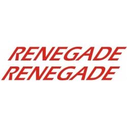 Renegade Aircraft Decal,Sticker 4''high x 47 1/2''wide!