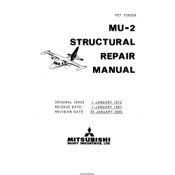 Mitsubishi MU-2 Structural Repair Manual YET72035A