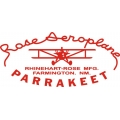 Rose Aeroplane Parrakeet Aircraft Decal/Sticker 7 3/4''h x 13''w!
