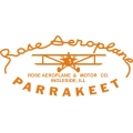 Rose Aeroplane Parrakeet Aircraft Decal/Sticker 13''w x 7.75''h!