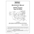 Rotax Engine TYPE 912 Series Maintenance Manual 899 372 $13.95