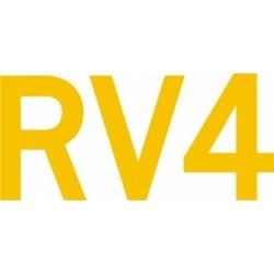 RV 4 Aircraft Decal,Sticker 11 1/4''wide x 3''high!