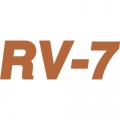 RV-7 Aircraft Decal,Sticker 5 1/4''high x 13''wide!