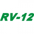 RV-12 Aircraft Decal,Sticker 5 1/4''high x 13''wide!